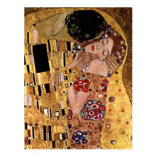 Gustav Klimt: The Kiss (Detail) Postcard