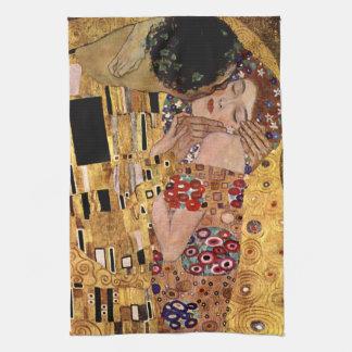 Gustav Klimt: The Kiss (Detail) Tea Towel
