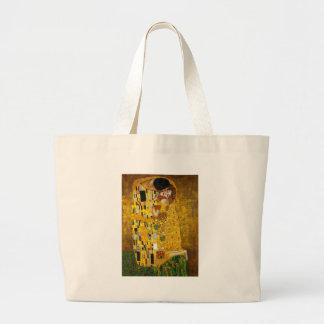 Gustav Klimt The Kiss Large Tote Bag