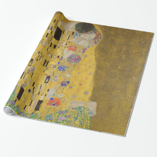 Gustav Klimt The Kiss (Lovers) GalleryHD Vintage Wrapping Paper