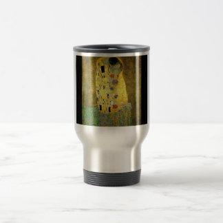 gustav-klimt-the-kiss travel mug