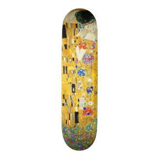 Gustav Klimt The Kiss Vintage Art Nouveau Painting 21.6 Cm Skateboard Deck