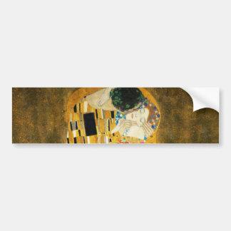 Gustav Klimt The Kiss Vintage Art Nouveau Painting Bumper Sticker