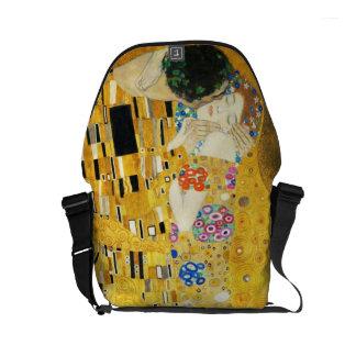 Gustav Klimt The Kiss Vintage Art Nouveau Painting Courier Bags