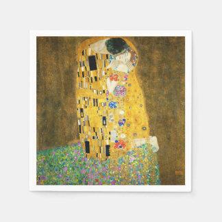 Gustav Klimt The Kiss Vintage Art Nouveau Painting Disposable Serviettes