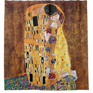 Gustav Klimt - The Kiss - Vintage Art Nouveau Shower Curtain