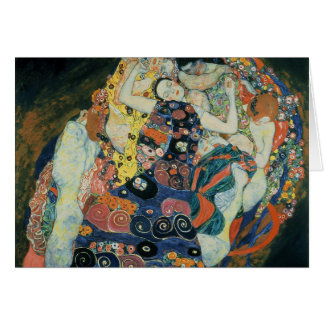 "Gustav Klimt : ""the Maiden"" Card"
