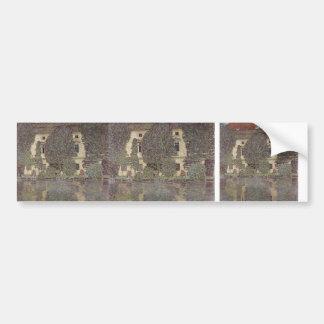 Gustav Klimt- The Schloss Kammer on Attersee III Bumper Sticker