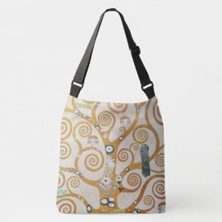 Gustav Klimt The Tree Of Life Art Nouveau Crossbody Bag