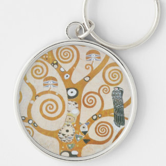 Gustav Klimt The Tree Of Life Art Nouveau Key Ring