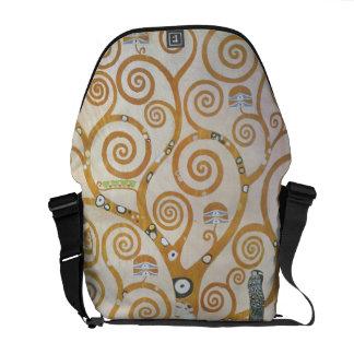 Gustav Klimt The Tree Of Life Art Nouveau Messenger Bags
