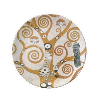 Gustav Klimt The Tree Of Life Art Nouveau Plate