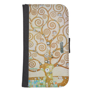 Gustav Klimt The Tree Of Life Art Nouveau Samsung S4 Wallet Case
