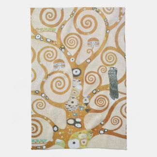 Gustav Klimt The Tree Of Life Art Nouveau Tea Towel