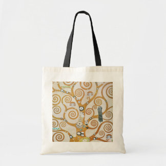 Gustav Klimt The Tree Of Life Art Nouveau Tote Bag