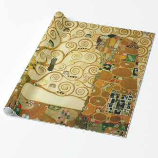 Gustav Klimt The Tree Of Life Art Nouveau Vintage Gift Wrapping Paper