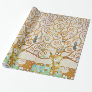 Gustav Klimt The Tree Of Life Art Nouveau Wrapping Paper