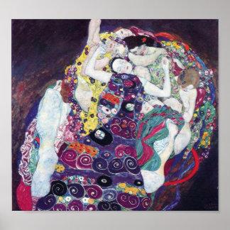 Gustav Klimt The Virgin Poster