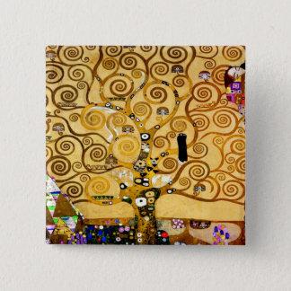 Gustav Klimt Tree of Life Art Nouveau 15 Cm Square Badge