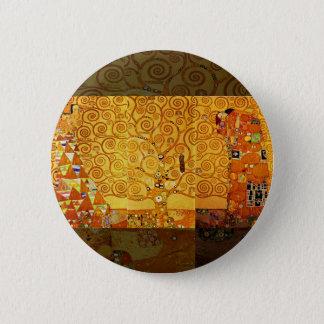 Gustav Klimt Tree of Life Art Nouveau Art Print 6 Cm Round Badge