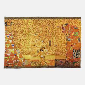 Gustav Klimt Tree of Life Art Nouveau Tea Towel