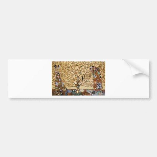 Gustav Klimt Tree Of Life Bumper Sticker