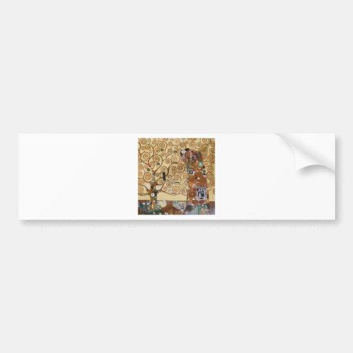 Gustav Klimt Tree Of Life Bumper Stickers