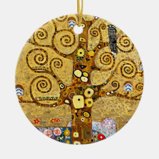 "Gustav Klimt, ""Tree of life"" Ceramic Ornament"