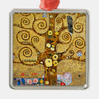 "Gustav Klimt, ""Tree of life"" Metal Ornament"