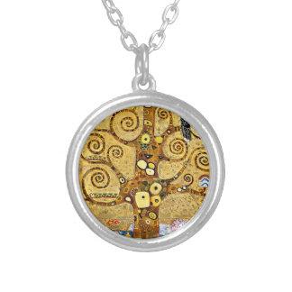 "Gustav Klimt, ""Tree of life"" Silver Plated Necklace"