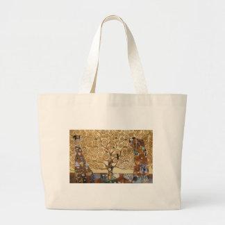 Gustav Klimt Tree Of Life Jumbo Tote Bag