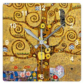 """Gustav Klimt, """"Tree of life"""" Wall Clocks"""