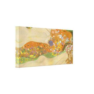 Gustav Klimt - Water snakes friends II Canvas Print