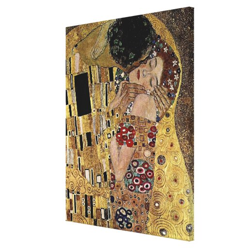 Gustav Klimt's The Kiss Detail (circa 1908) Gallery Wrapped Canvas