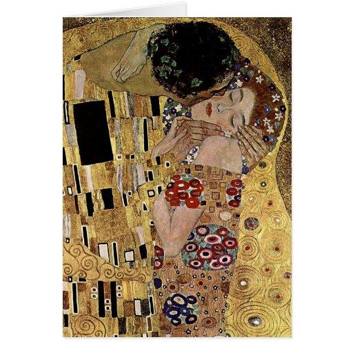 Gustav Klimt's The Kiss Detail (circa 1908) Cards