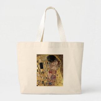 Gustav Klimt's The Kiss Detail (circa 1908) Jumbo Tote Bag