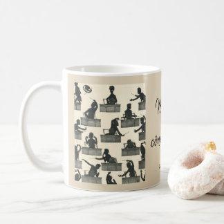 Gustav Mahler classical conducting silhouettes Coffee Mug