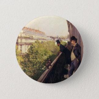 Gustave Caillebotte:A Balcony, Boulevard Haussmann 6 Cm Round Badge