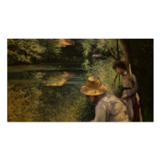 Gustave Caillebotte- Angling Business Card Templates