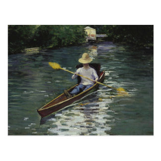 Gustave Caillebotte  - Canoe on the Yerres Postcard