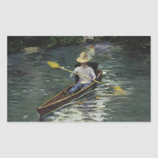 Gustave Caillebotte  - Canoe on the Yerres Rectangular Sticker