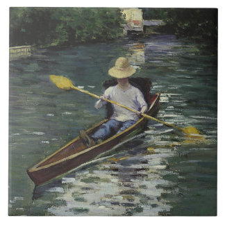 Gustave Caillebotte  - Canoe on the Yerres Tile