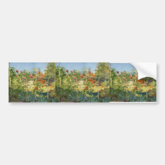 Gustave Caillebotte- Garten in Trouville Bumper Stickers