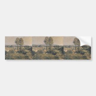 Gustave Caillebotte- Landscape at Argenteuil Bumper Sticker