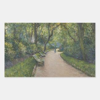 Gustave Caillebotte - Le Parc Monceau Rectangular Sticker