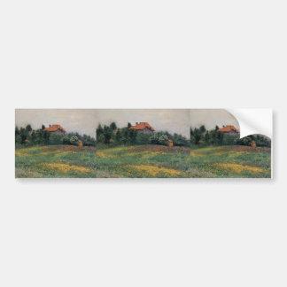 Gustave Caillebotte- Norman Landscape Bumper Sticker