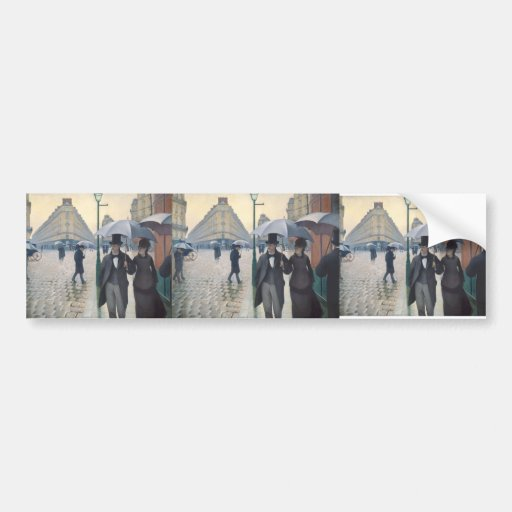 Gustave Caillebotte- Paris, a Rainy Day Bumper Stickers