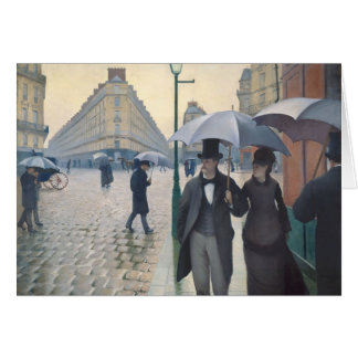 Gustave Caillebotte- Paris, a Rainy Day Card