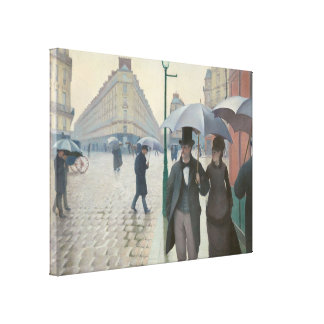Gustave Caillebotte - Paris Street; Rainy Day Canvas Print
