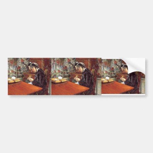 Gustave Caillebotte- Portrait of Mademoiselle Bumper Sticker